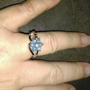 Sterling Silver Created Candy Opal Ring